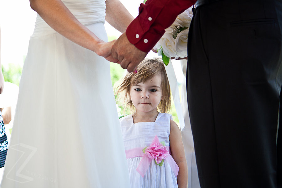 Lily at the mommy wedding